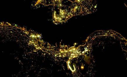 images satellites de nuit
